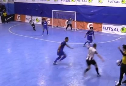 Australia's best futsal player fires home a stunner