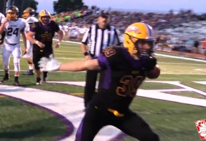 Rising star linebacker torches the turf with lightning feet
