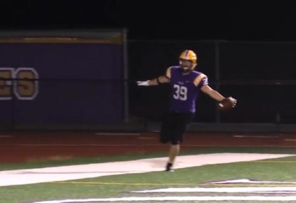 Future NFL star turns on a dime to score electric TD