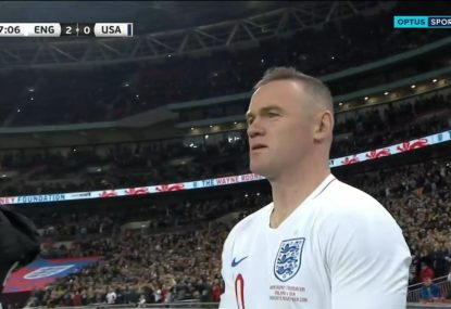 Wembley goes nuts as Wayne Rooney makes final England appearance