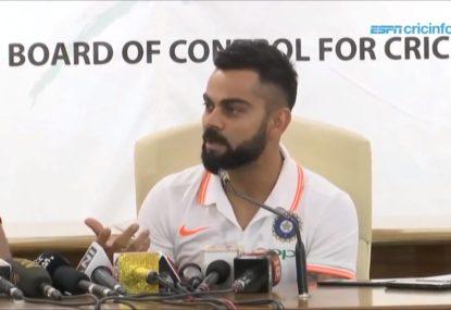 Virat Kohli says India won't sledge... unless the Aussies start it