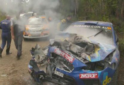 Molly Taylor lucky to escape hair-raising Australian Rally Championship crash