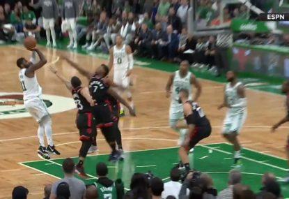 Kyrie's 43-point game powers Celtics past Raptors