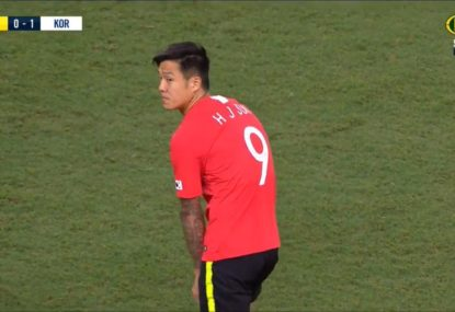 South Korean sub doesn't realise he's come on wearing training shorts