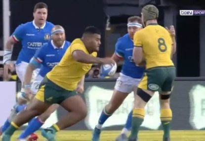 The Tongan Thor produces one of his best moments in a gold jersey