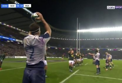 Scotland completely stun the Boks with innovative lineout set play