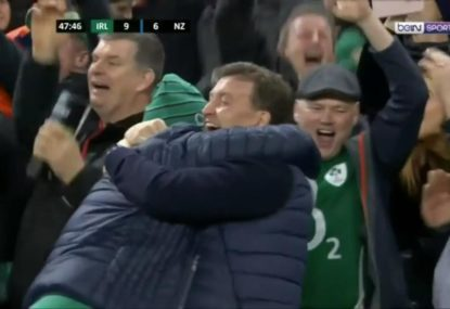 Jacob Stockdale scores an individual beauty to tear the All Blacks apart