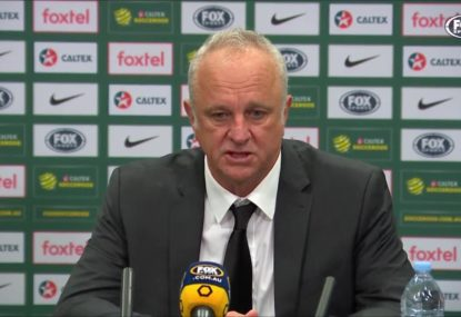 Graham Arnold delighted with Socceroos' effort after 1-1 draw