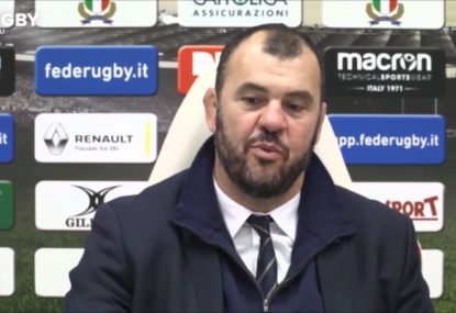 Michael Cheika urges Wallabies to 'keep grinding' after Italy win