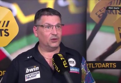 Darts player gives the greatest interview ever after being accused of farting mid-game