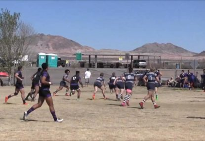 Beast of a flyhalf rampages his way to the try line