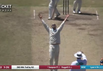 Lyon scores 9 wicket haul against Queensland