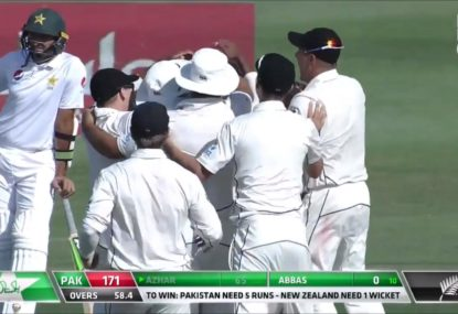 Vintage Pakistan choke hands New Zealand incredible 4-run victory