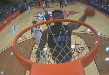 The dunk so powerful that it nearly broke the rim