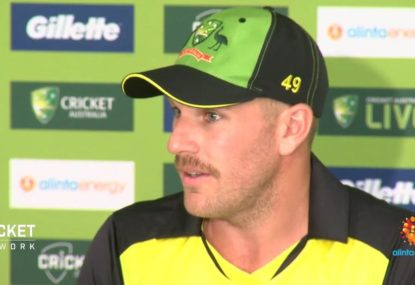 Finch insists Aussies are 'desperate to win'