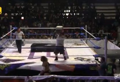 GRAPHIC: Mexican pro wrestler nearly kills opponent with thrown brick