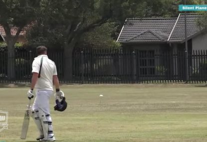 Bizarre DRS-style decision leaves park cricket match in state of confusion