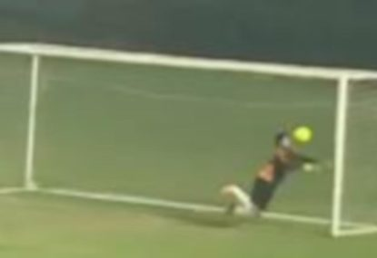 This hapless goalie is having a worse day than you