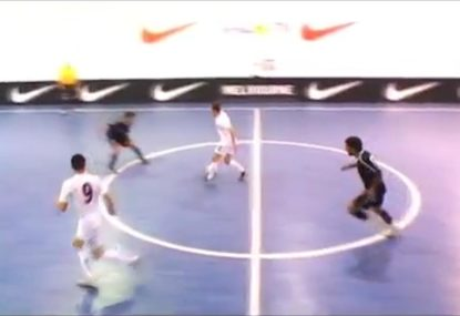 Defender disastrously puts ball at the feet of Australia's best futsal player