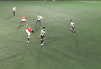 Footballer pulls off one of the most ridiculous through-balls ever!