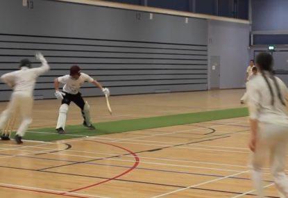 Quick-thinking keeper takes faint edge then stumps batsman for good measure