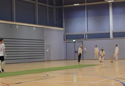 Lazy batsman refuses to make his ground despite hours of incompetent fielding