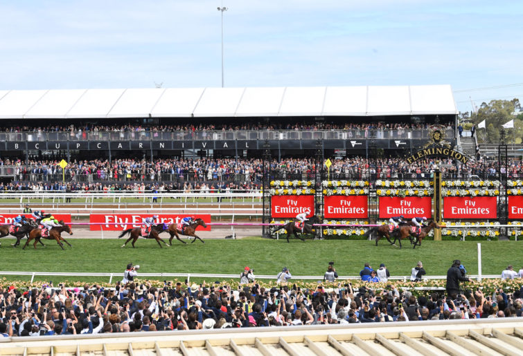 Melbourne Cup finishing post