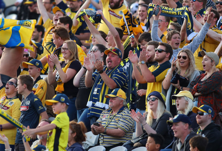 Central Coast Mariners A-League fans