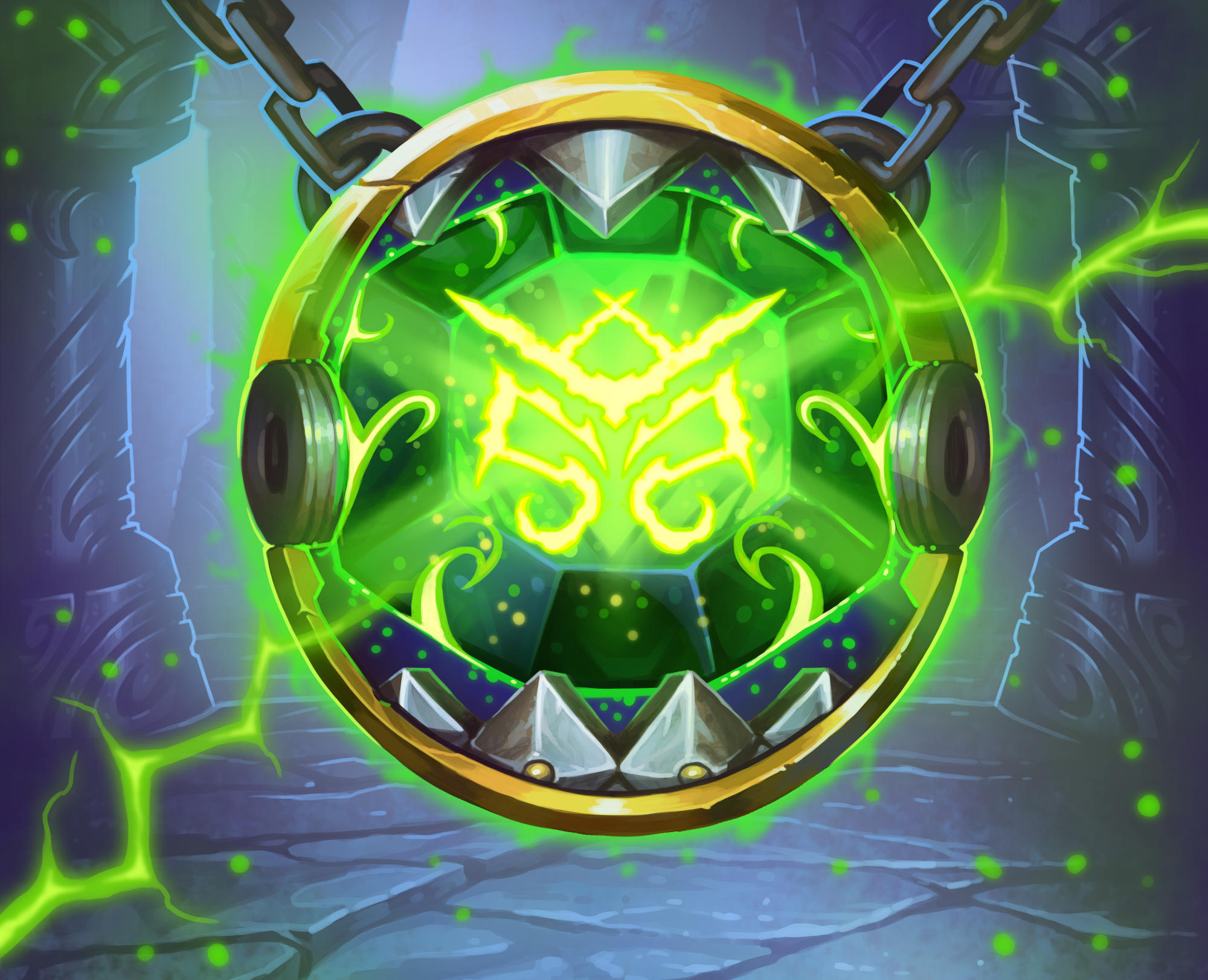 Artwork for the Hearthstone card Greater Emerald Spellstone