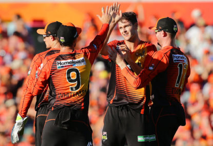 The gap between bat and ball is finally showing for the Perth Scorchers