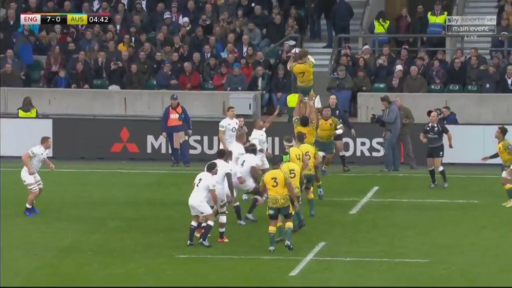 michael hooper lineout win