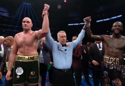 LAST TIME THEY FOUGHT: Wilder vs Fury draw despite massive final-round knockdown