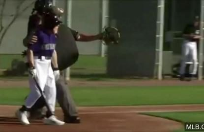 88-year-old baseball fan 'charges' the mound against the pros