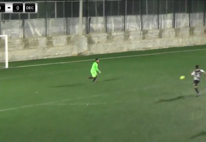 Keeper's hilarious air swing blunder is an all-time head scratcher