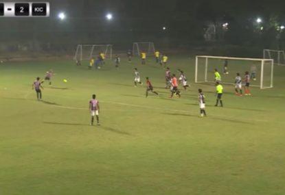 Amateur footballer drills an absolute BULLET volley