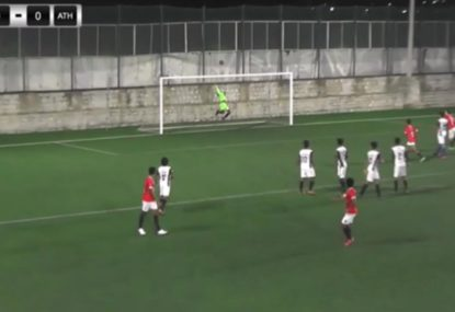 Brilliant leaping one-hander saves near-perfect free kick