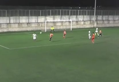 Cheeky dink tantalisingly sneaks over keeper