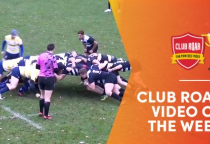 CLUB ROAR VIDEO OF THE WEEK: No-look falling flick pass is try assist of the year!