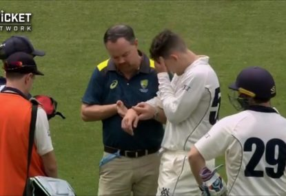 Nic Maddinson suffers broken arm after copping nasty blow