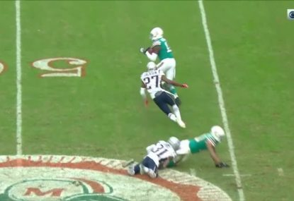 Miami win NFL game with a rugby-style play