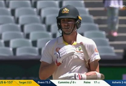 Cummins rides his luck against DRS twice in the one over