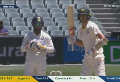 Stump mic picks up some light-hearted sledging from the Indians
