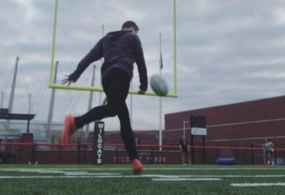Young prodigy fuses soccer and rugby skills together for unique juggling act