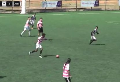 Footballer scores an absolute worldie from outer space
