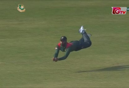 Bangladesh star channels Superman with stunning catch
