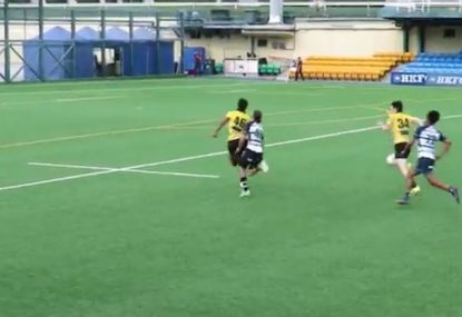 Risky cross-field kick inside own 22 pays off in spectacular fashion