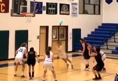 Basketballer face plants trying to avoid free throw violation