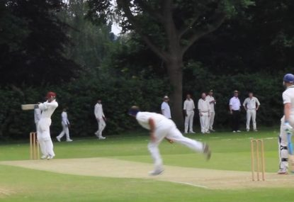 Audacious opener ramps first ball of the match for four