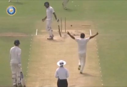 Teenage Indian quick produces rare cricket feat with swing bowling masterclass