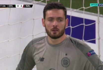 Keeper's unfathomable error nearly sends Celtic out of the Europa League